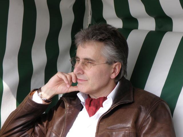 Ritter Wolfgang im Strandkorb