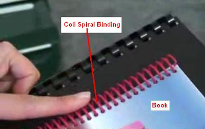 Coil Spiral Binding in Book