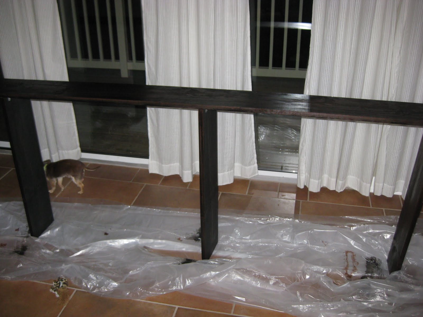 Behind Sofa Tables 4 Seat Recliner Where North Met South Faux Table