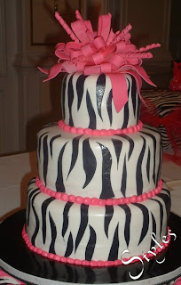Cakes By Styles 25th Birthday Cake Pink Amp Zebra Theme