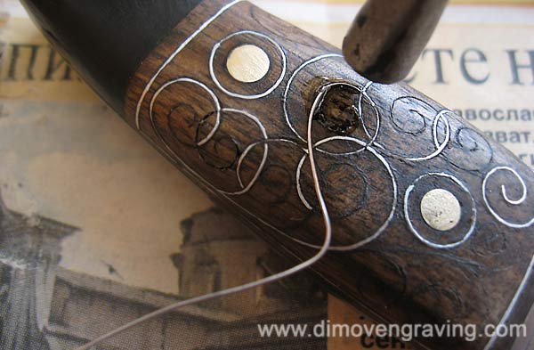 Incrustation Quot Line Quot Metal In Wood By Evgeni The Engraver