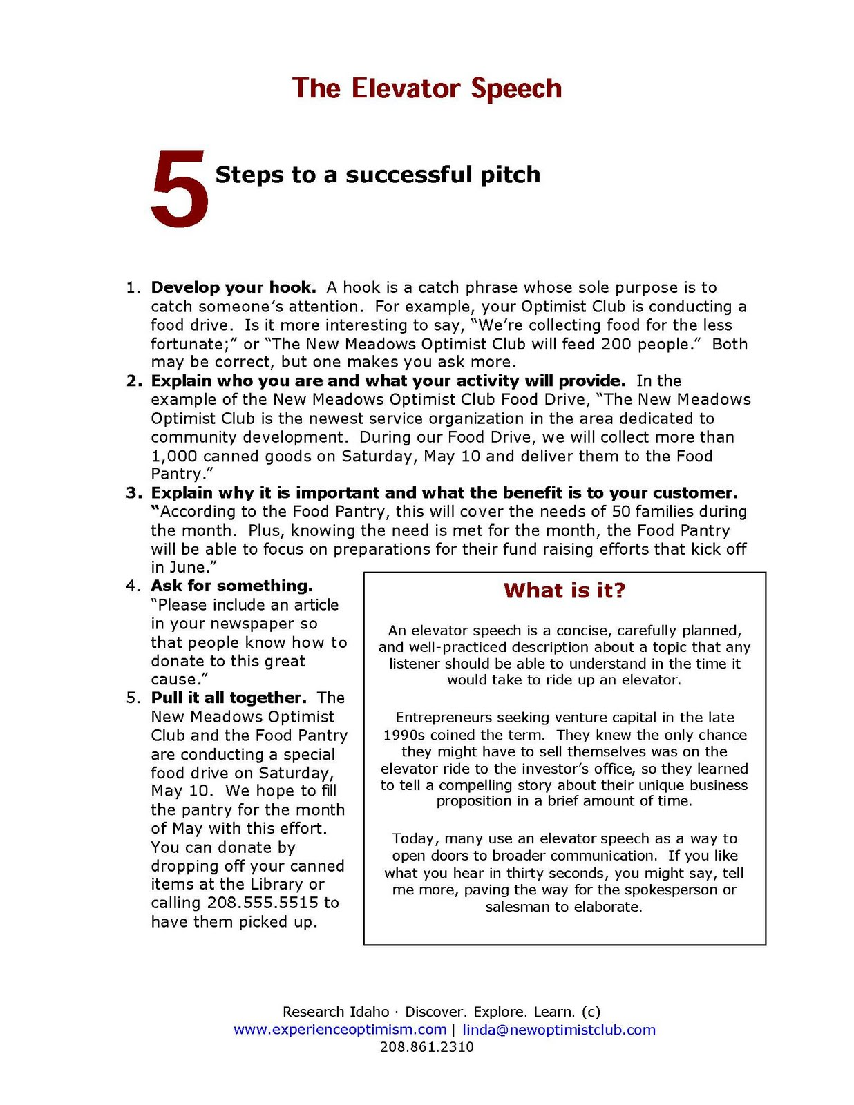 Example Elevator Pitch certified public accountant resume job – Elevator Speech Examples