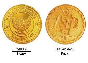 Indonesia pernah membuat koin dengan nominal 150.000