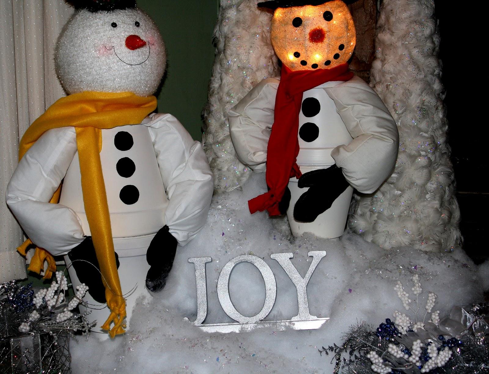 DIY Clay Pot Snowmen!!