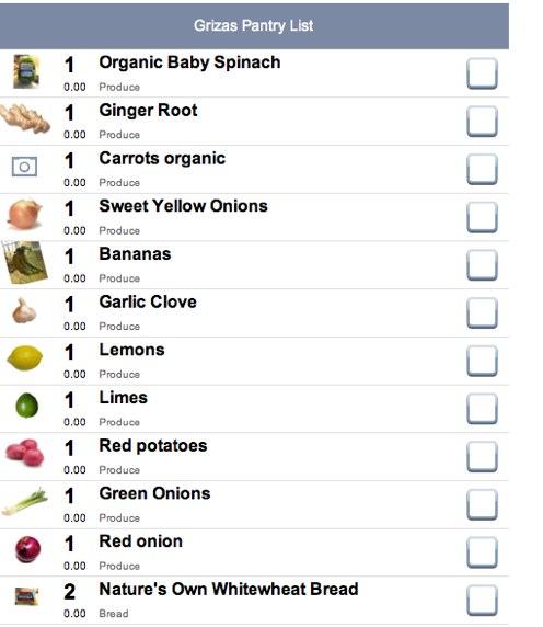 iGriza More Online Nesting  Grocery List Organization