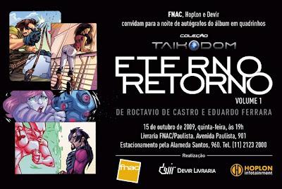 """Divulgação de evento  lançamentos em São Paulo e Florianópolis da revista  em quadrinhos """"Eterno Retorno"""" ee56dc6868989"""