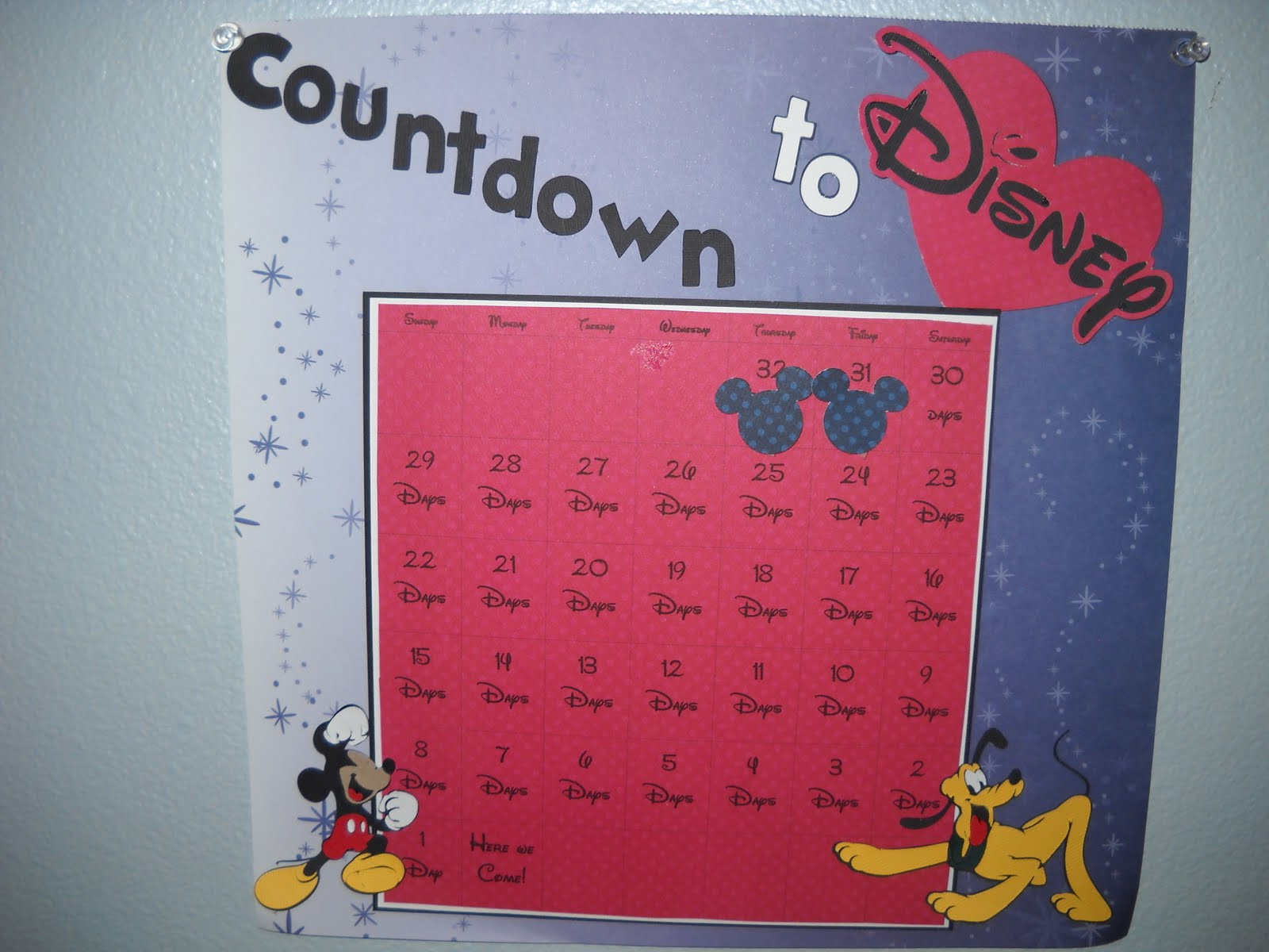Disney countdown template search results calendar 2015 for Countdown chart template