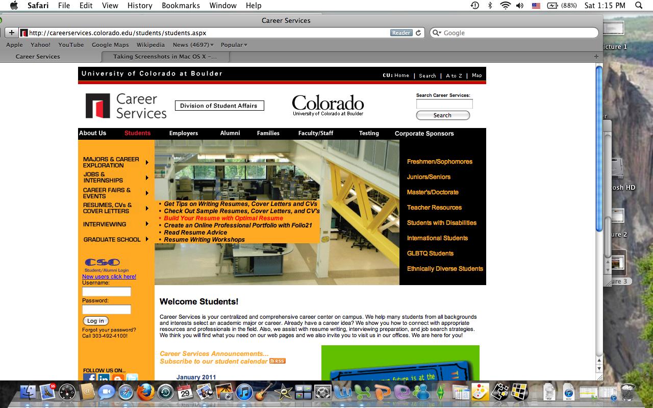 Career Services Cu Boulder Resume