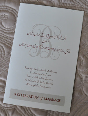 Layout Cassidy Wedding Program Ink Color Brown Paper Natural Astroparche Programs Samples
