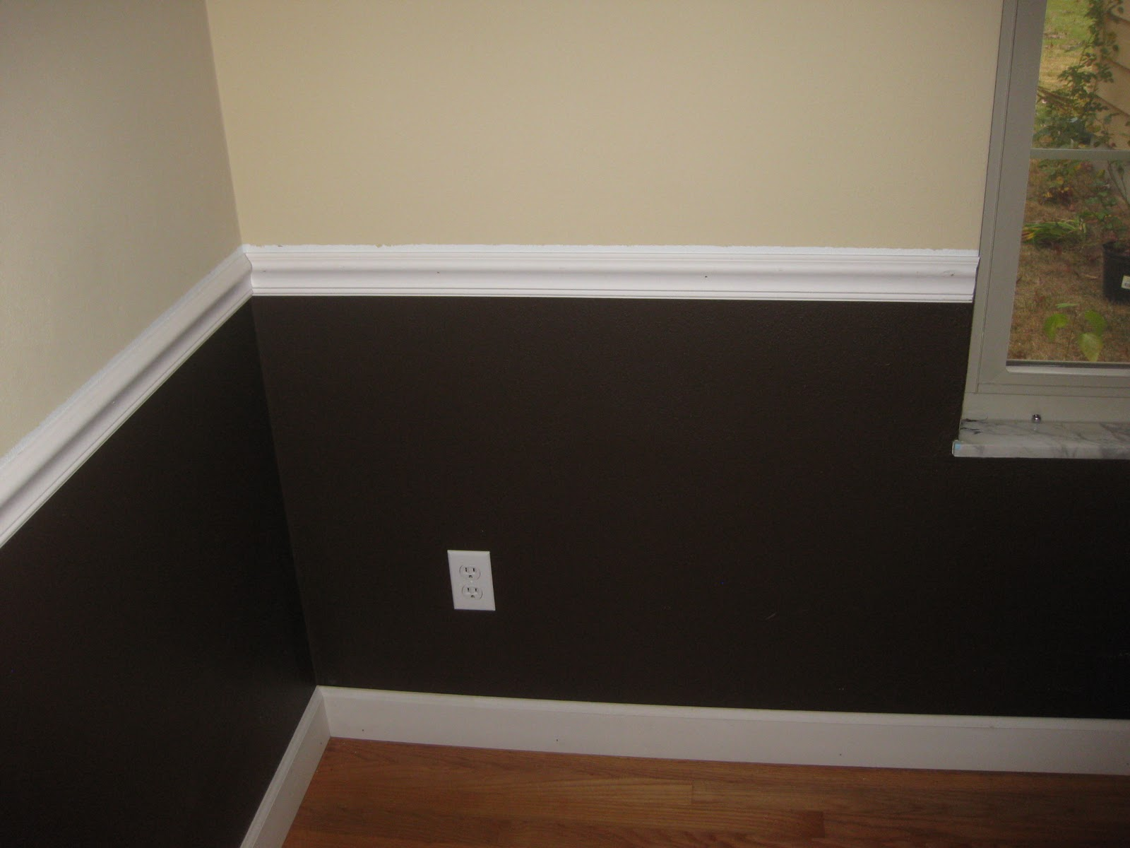 New And Improving Chair Rail And Floor Trim In The