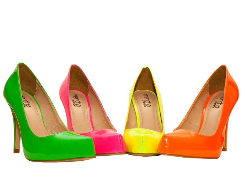 fotos de calçados coloridos verão 2011