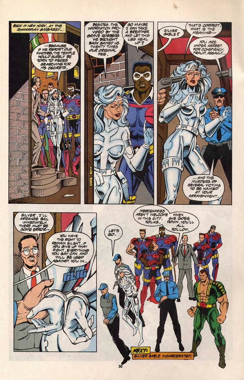 Read online Silver Sable and the Wild Pack comic -  Issue #29 - 23
