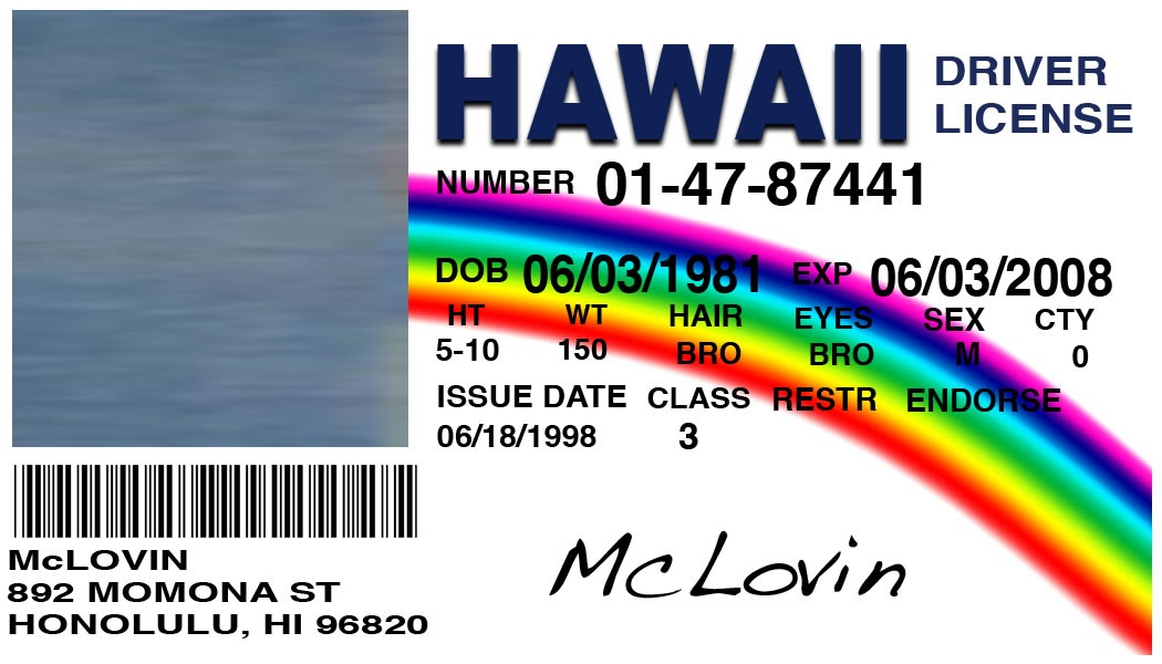 Card Mclovin Custom Your Card Picture With A Id Make