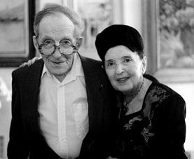 Leon Theremin y Clara Rockmore ya ancianos en su último encuentro en 1991