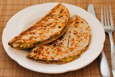 Egg Salad and Cheese Quesadillas found on KalynsKitchen.com