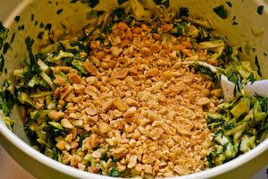Spicy Cilantro-Peanut Slaw found on KalynsKitchen.com