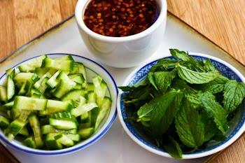 Thai-Inspired Turkey Mini-Meatball Lettuce Wraps found on KalynsKitchen.com