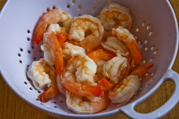 Shrimp with Mustard-Horseradish Sauce found on KalynsKitchen.com