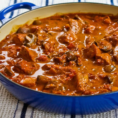 Pork with Paprika, Mushrooms, and Sour Cream