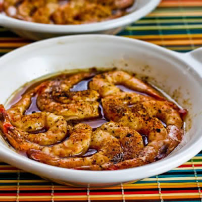 Quick and Easy Spicy Broiled Shrimp found on KalynsKitchen.com