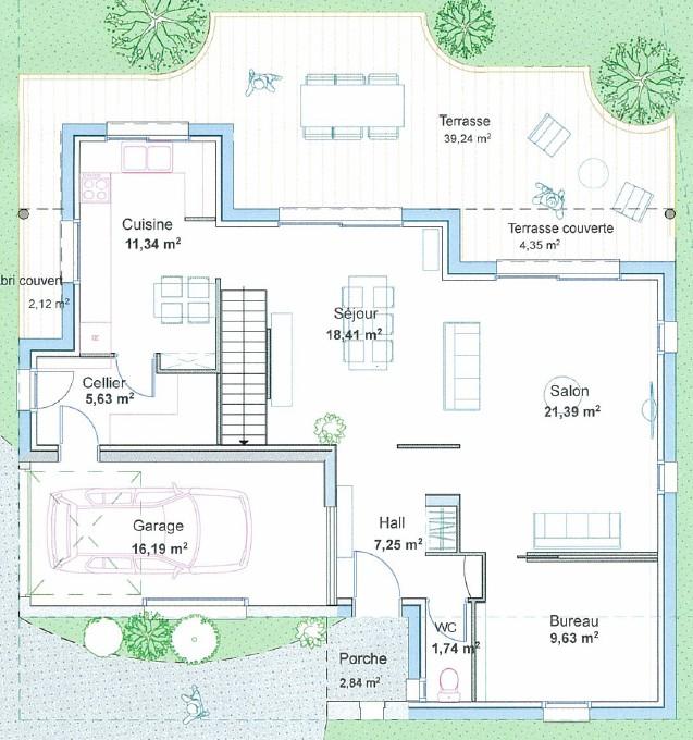 plan maison 2 etage. villa moderne hbc tages with plan maison 2 ... - Plan Maison Deux Etages