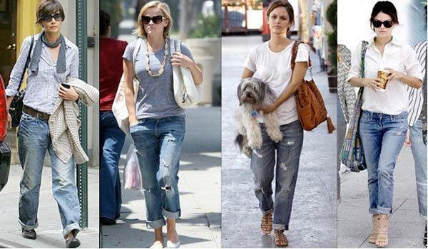 Обтягивающие джинсы (скинни), мешковатые джинсы бойфренда (багги)