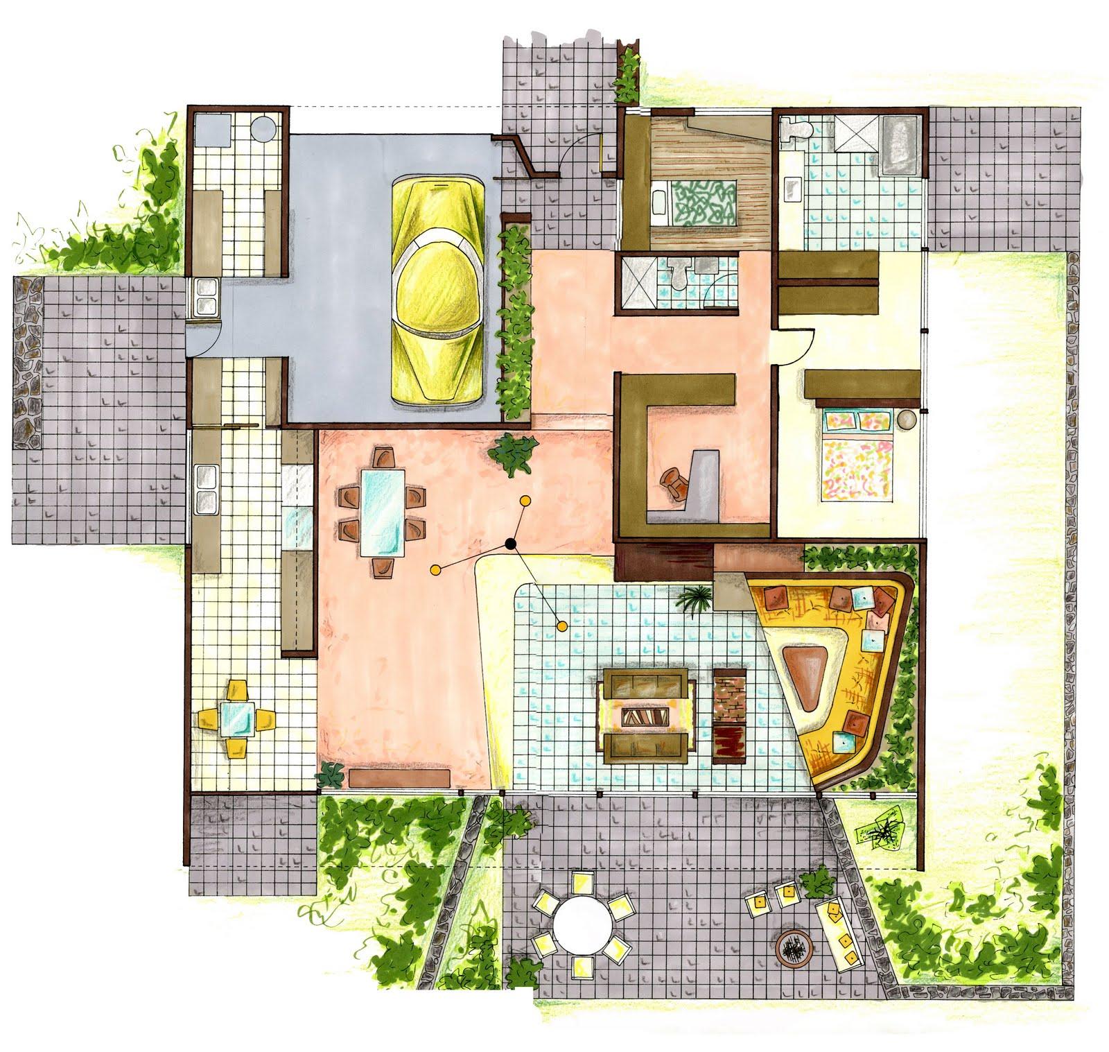Design A Kitchen Floor Plan Portfolio Visual Communication Case Study Entenza House