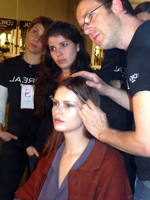 modelo loreal backstage madrid fashion week