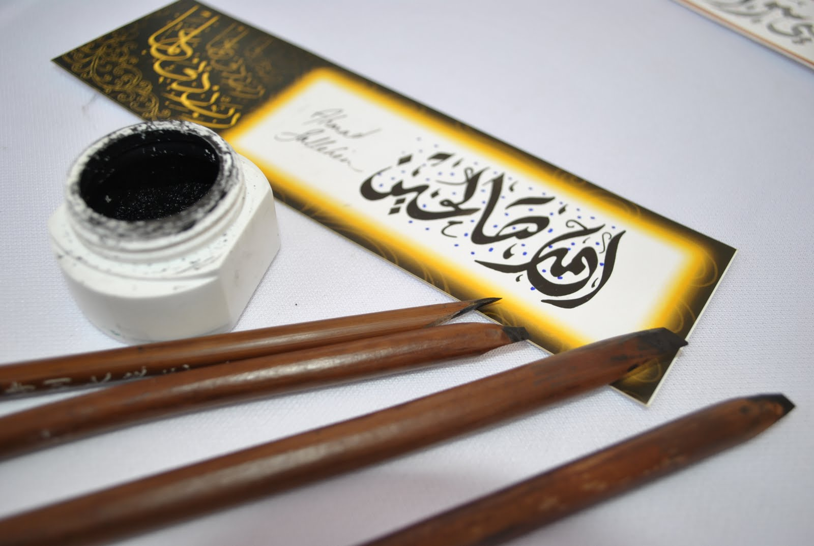 Gajirkaligrafi peralatan untuk penulisan khat