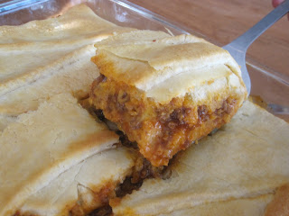 Sloppy Joe Squares are flaky crescent rolls filled with a flavorful meat mixture and gooey cheese. Life-in-the-Lofthouse.com