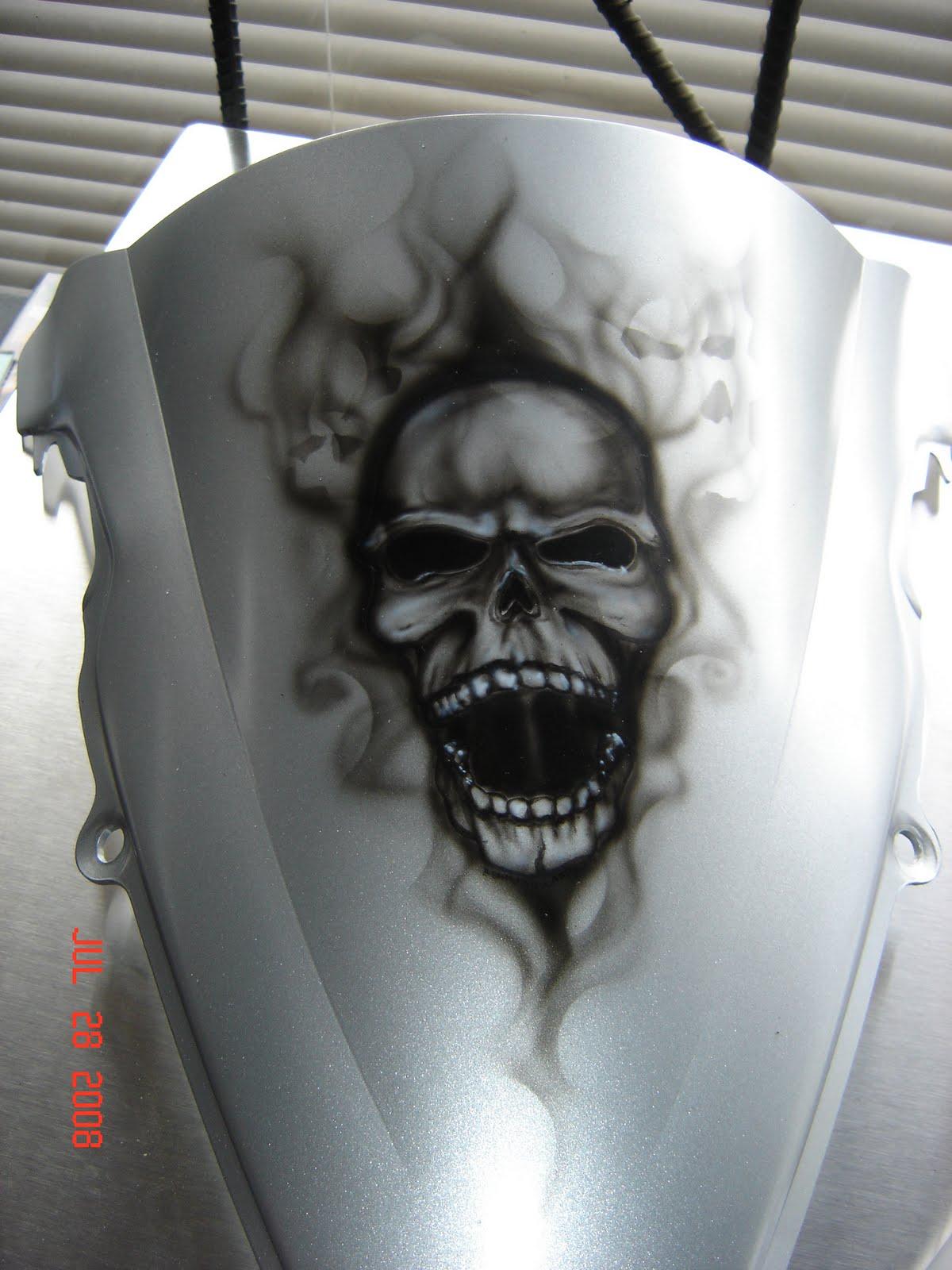 """Da Triggaman's Passion"": Skull With Smoke Bike"