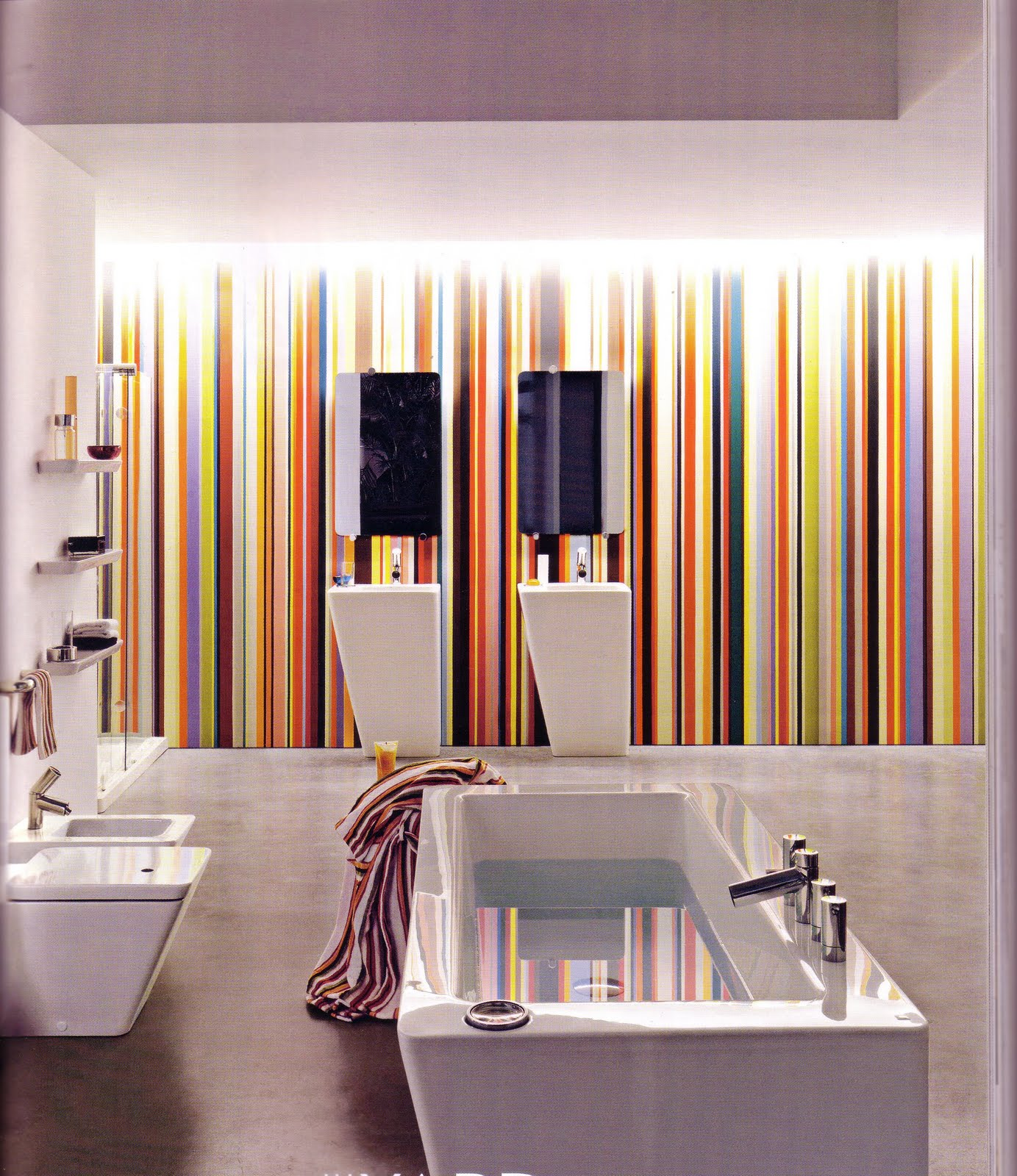 Is It Ok To Have Stripes On Accent Wall: Trends With Transformations: Funky Stripes