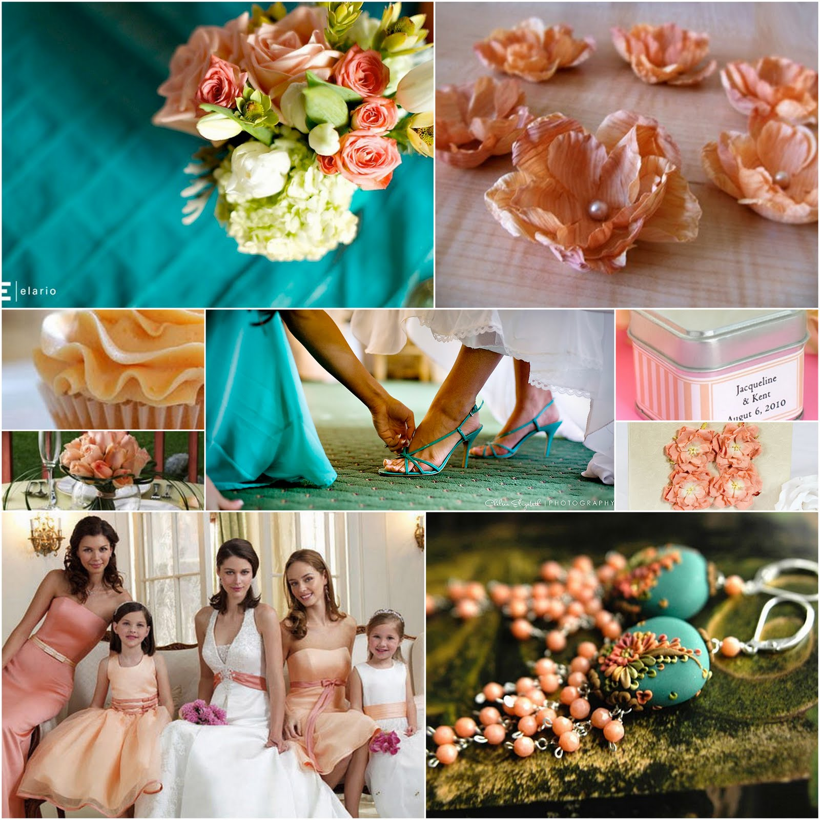 Teal Wedding Ideas For Reception: Bride&Teacher: Wedding Design