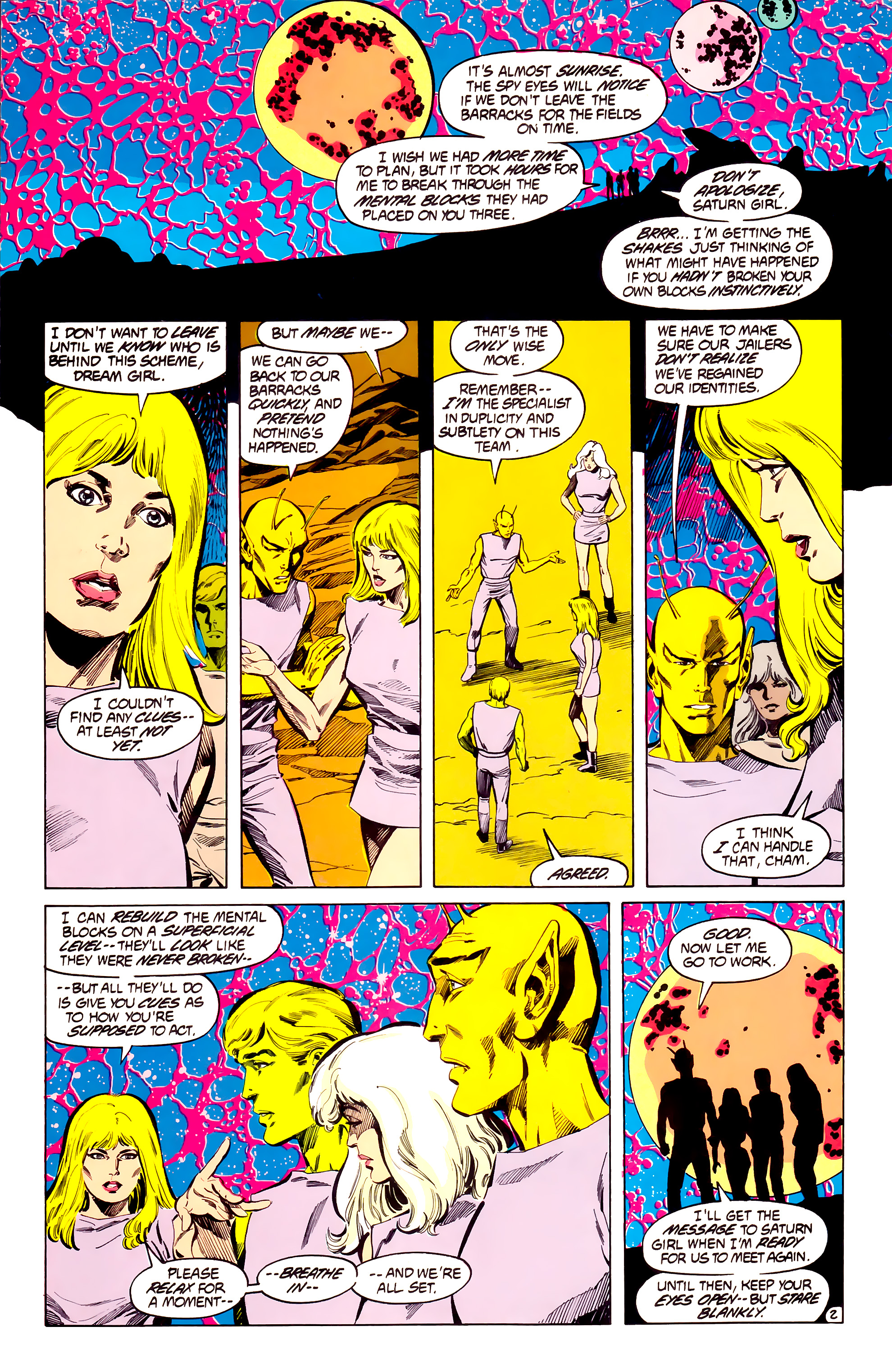 Legion of Super-Heroes (1984) 33 Page 2