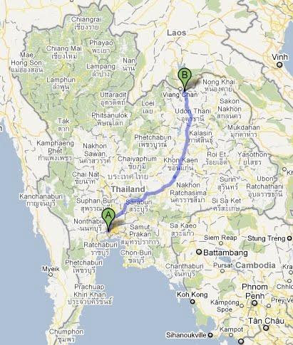 Teamlehtimaki Thaimaassa Pikamatka Laosiin