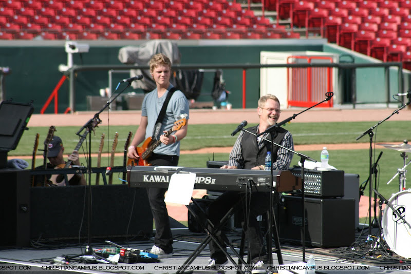 Steven Curtis Chapman and his son on the base guitar