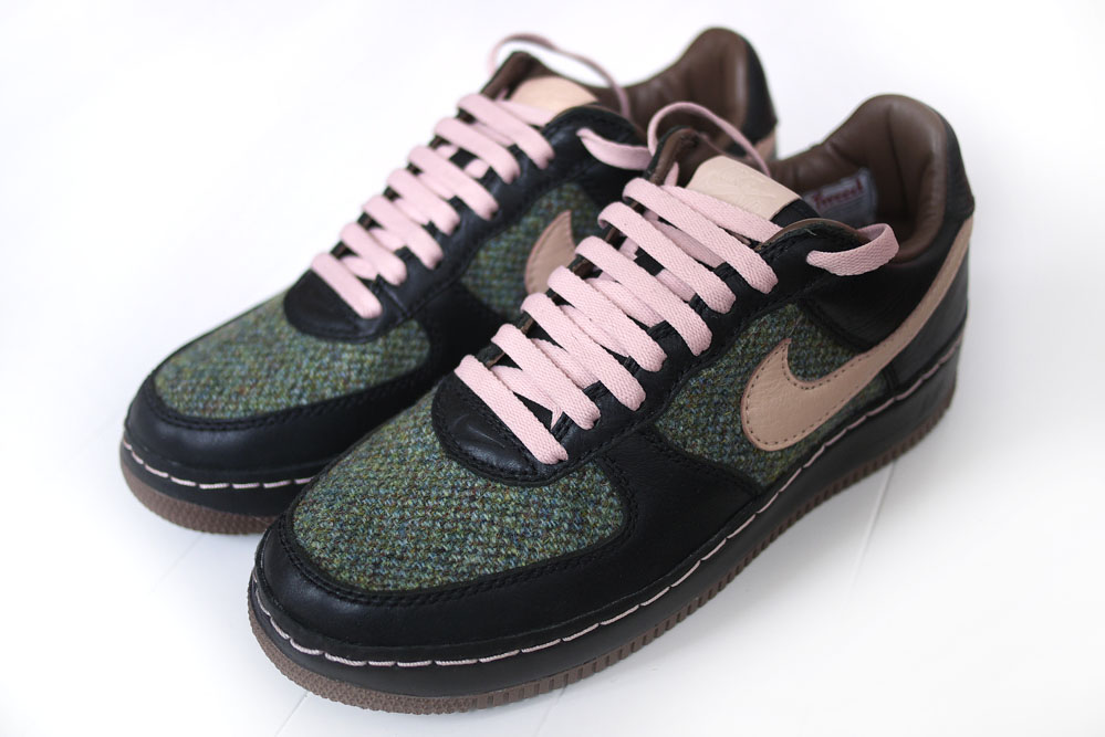 low price quality design super cheap mark whitfield photography: harris tweed x nike air force-1