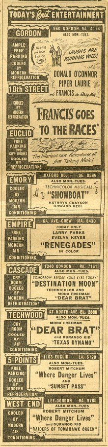 Movies of Sept. 1951