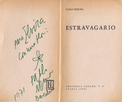 Flores Y Palabras Pablo Neruda Un Poema Y Una Dedicatoria