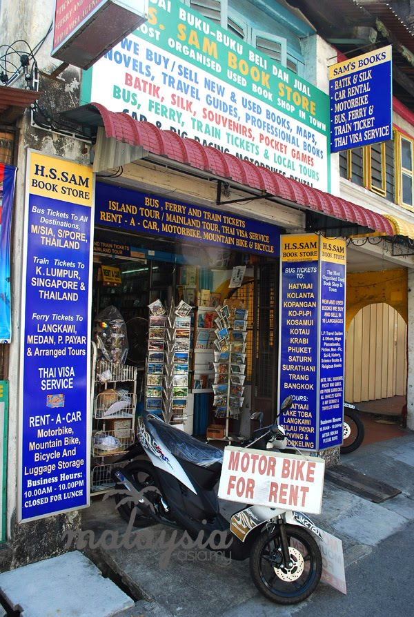 Motorbike Rental Chulia Street Penang