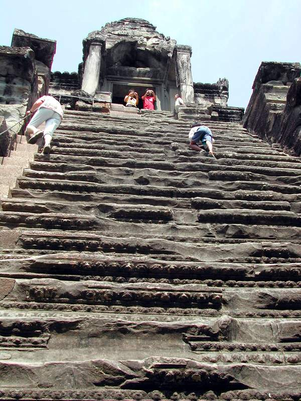 Original Stairs at Angkor Wat Temple