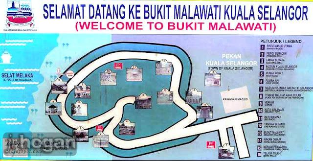 Map of Bukit Malawati