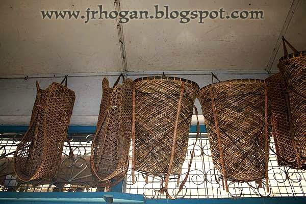 Iban weaved baskets