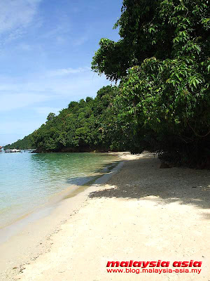 Private Beach Pulau Manukan Island