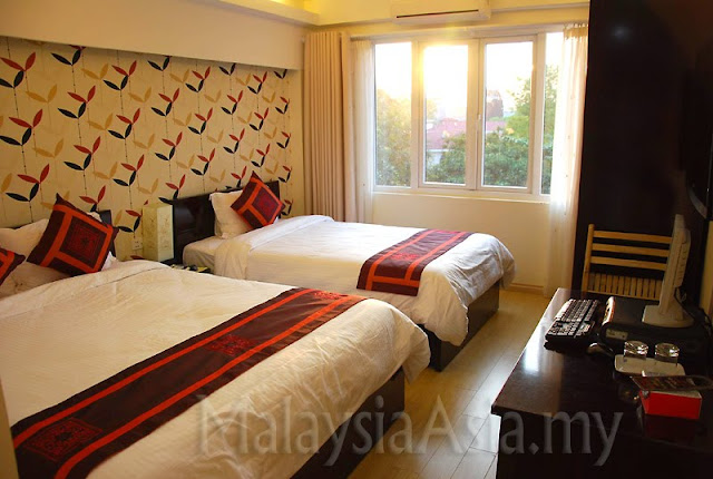 Impressive hotel room Hanoi Vietnam