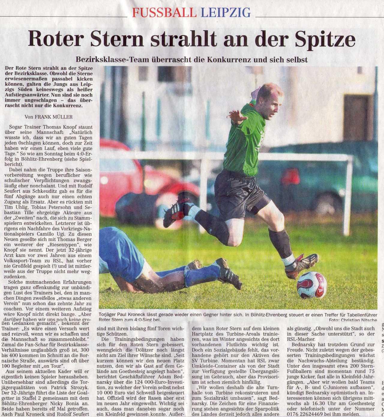 Roter Stern Altenburg Fussball Roter Stern Leipzig In Der