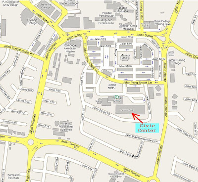 location map civic center petaling Jaya