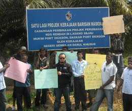 Protests by workers of Ladang Siliau over BN broken promise