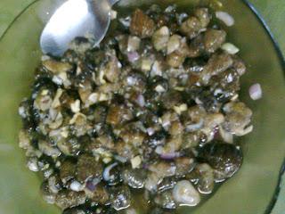 Kinilaw na Balat (Sea Cucumber)