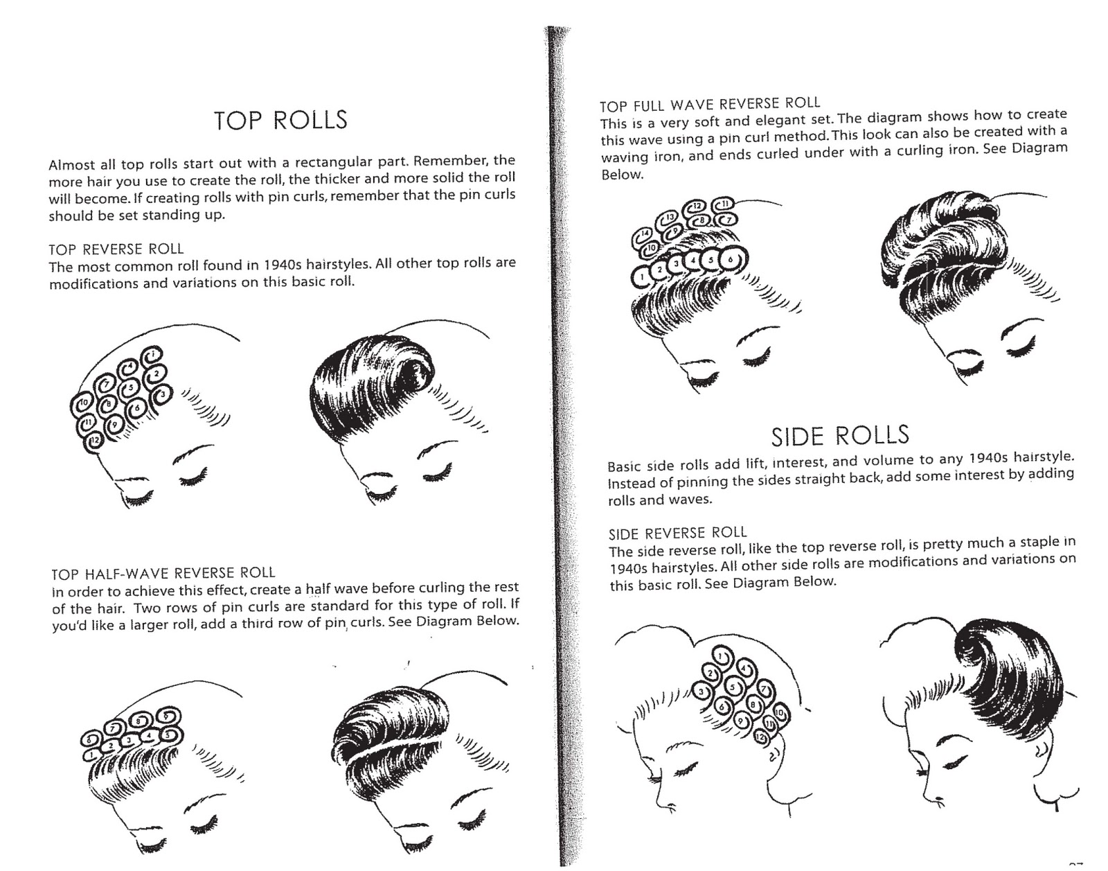 vintage pin curls diagram simple food chain tart deco glamour retro style viva las vegas series 1 i have also started to use the book hairstyling